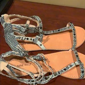 Nine West Snake Print Sandals